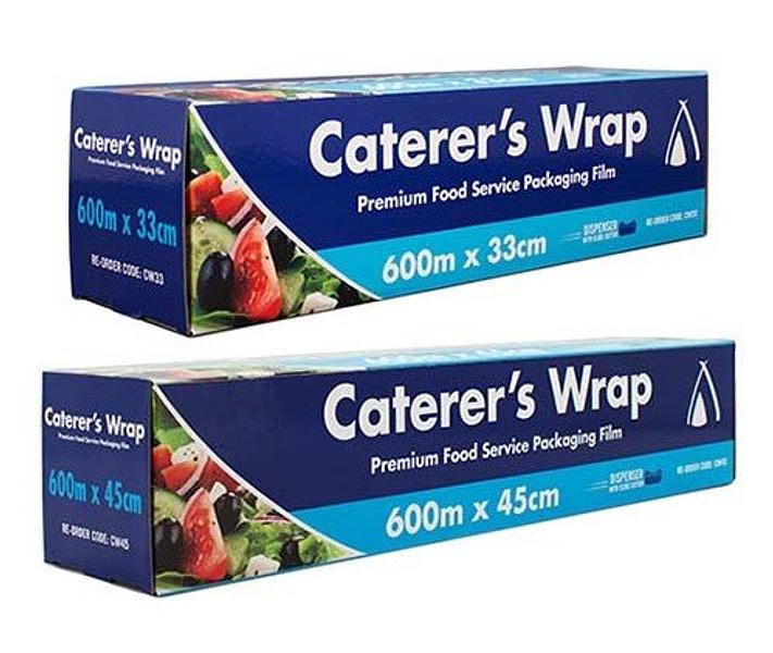 Plastic Food Wrap Premium Cling Wrap 600m x 33cm or 45cm Roll with